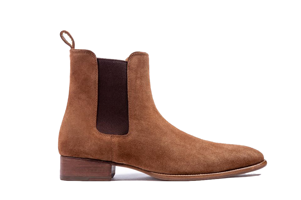Coffee Suede Chelsea Boots