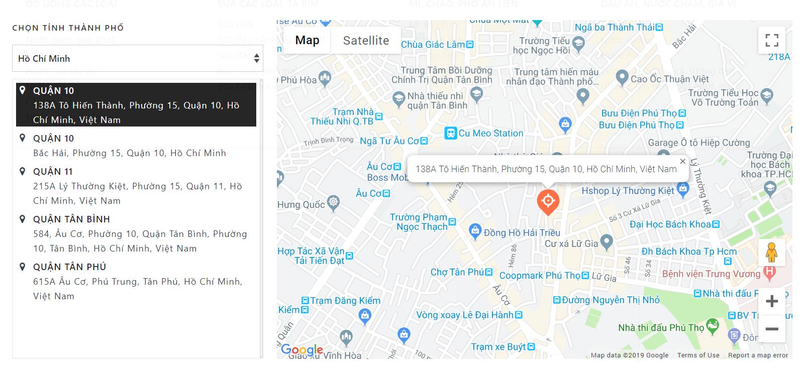 Evo Fresh bản đồ