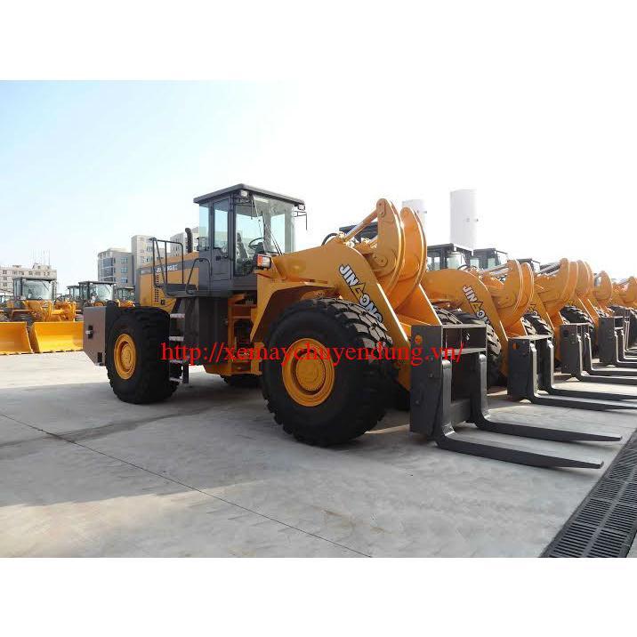 Xe nâng đá block hiệu JinGong, tải nâng 32 tấn.