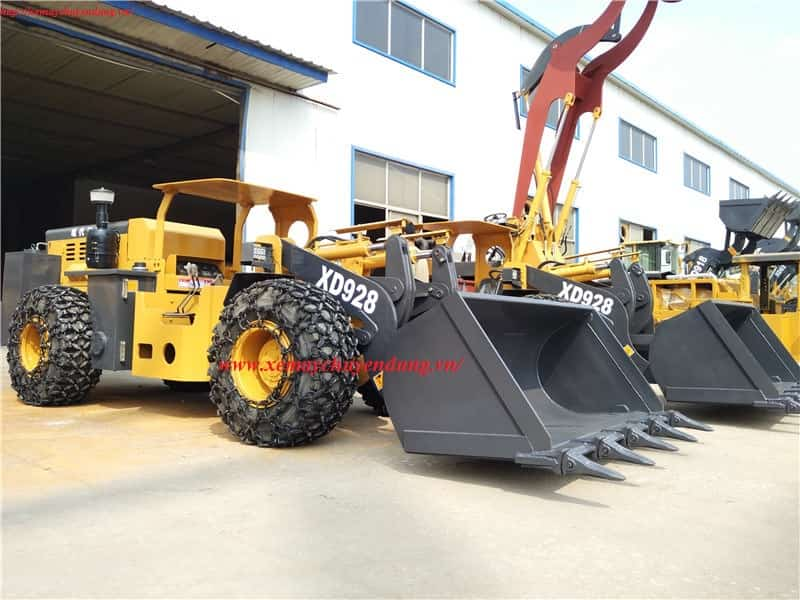 Máy xúc lật chui hầm XIANDAI XD928 nâng 2 tấn.