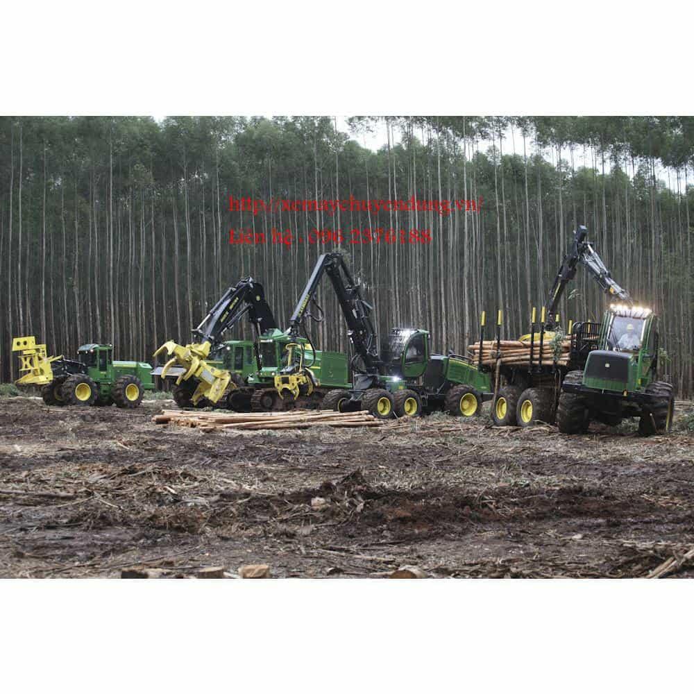 Máy gắp gỗ, cắt gỗ, phục vụ khai thác lâm sản