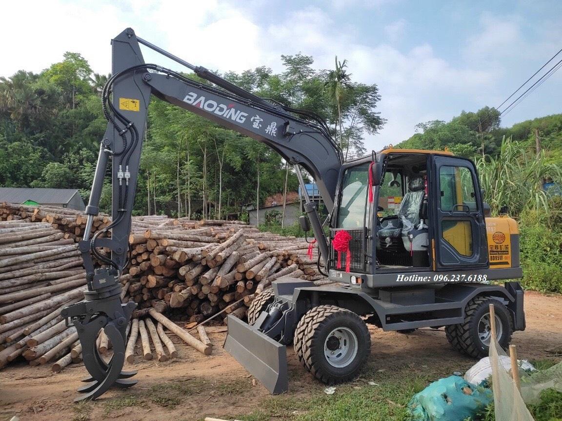 Máy xúc đào bánh lốp BAODING BD95W-9A