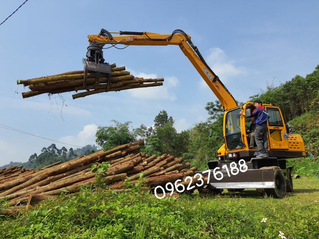 Máy xúc đào bánh lốp gắp gỗ Jinggong Trung Quốc