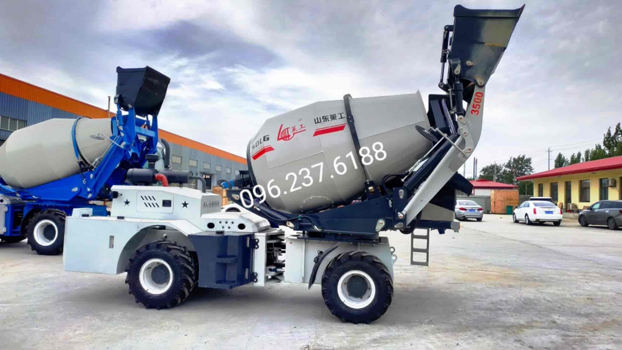 Xe trộn bê tông tự nạp liệu 3.5m3 Laigong H20