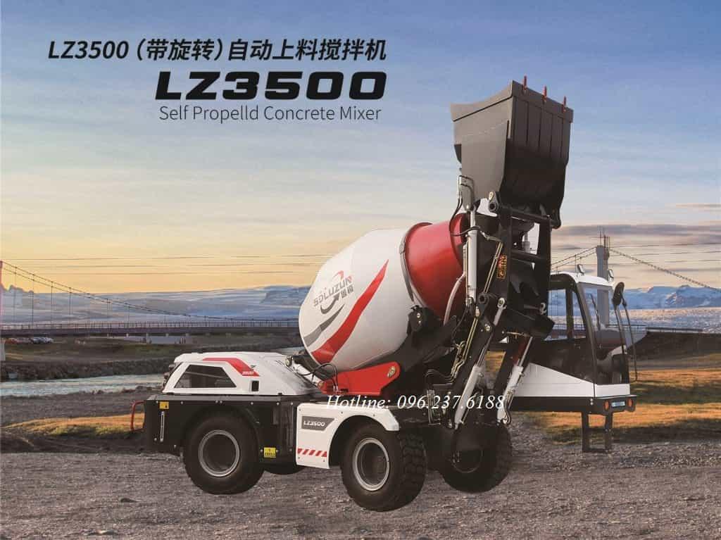 Xe trộn bê tông tự nạp liệu 5.4m3 LUZUN LZ3500