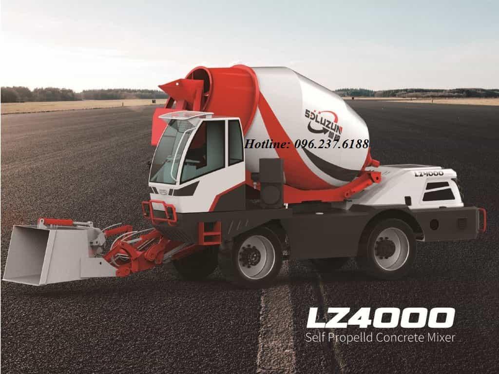 Xe trộn bê tông tự nạp liệu 6.1m3 LUZUN LZ4000