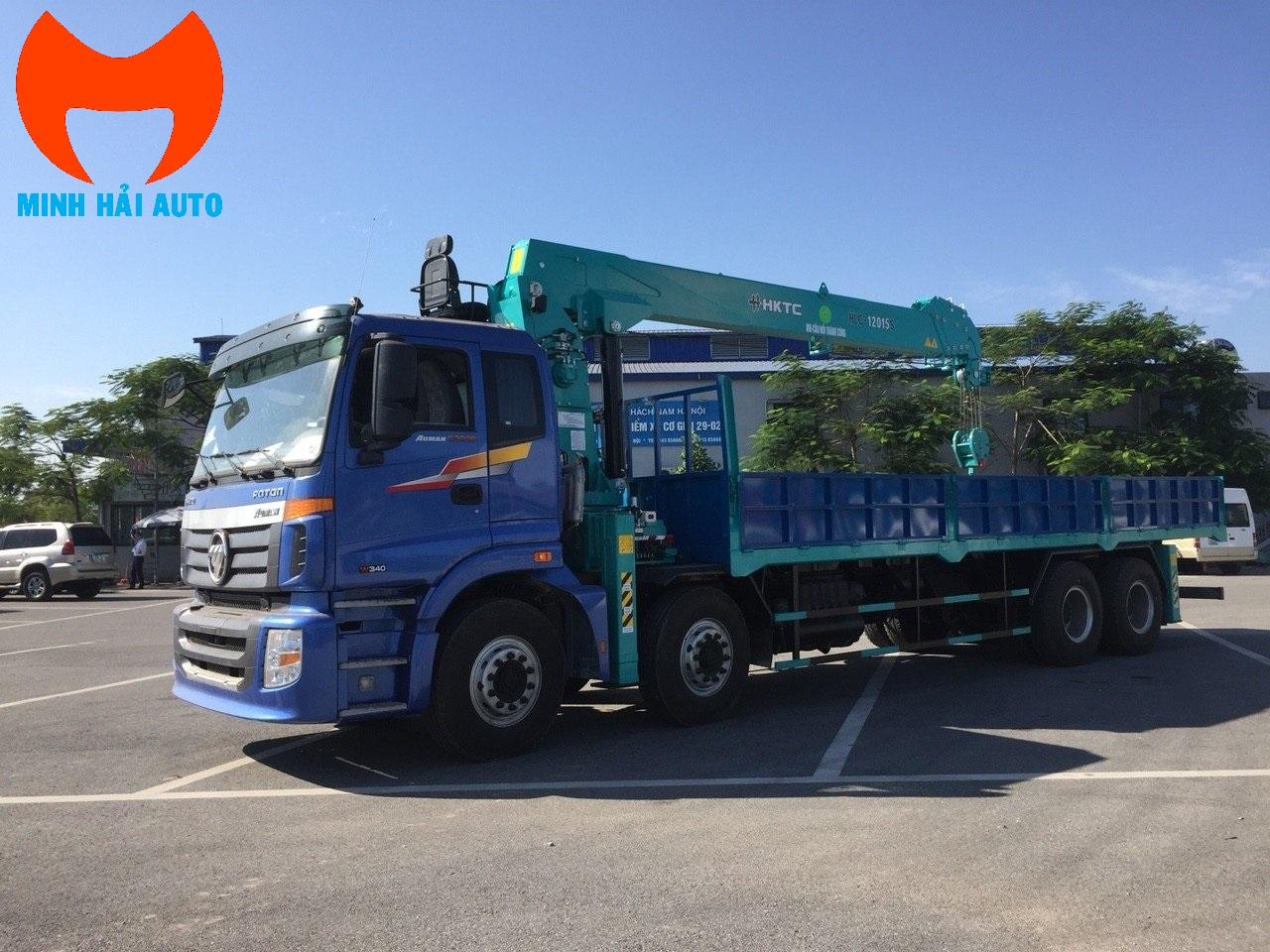 Xe cẩu thùng 12 tấn HKTC- Thaco Auman