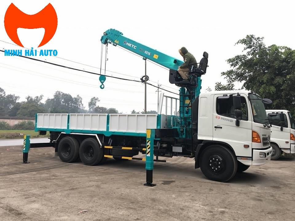 Bán xe cẩu thùng 7 tấn HKTC- Hino
