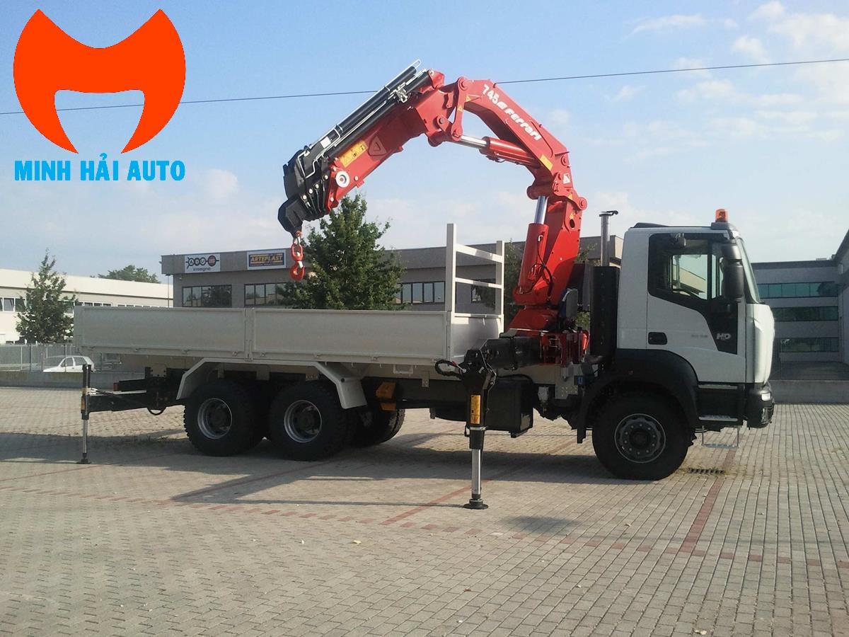 Bán xe tải cẩu gấp khúc robot 10 tấn