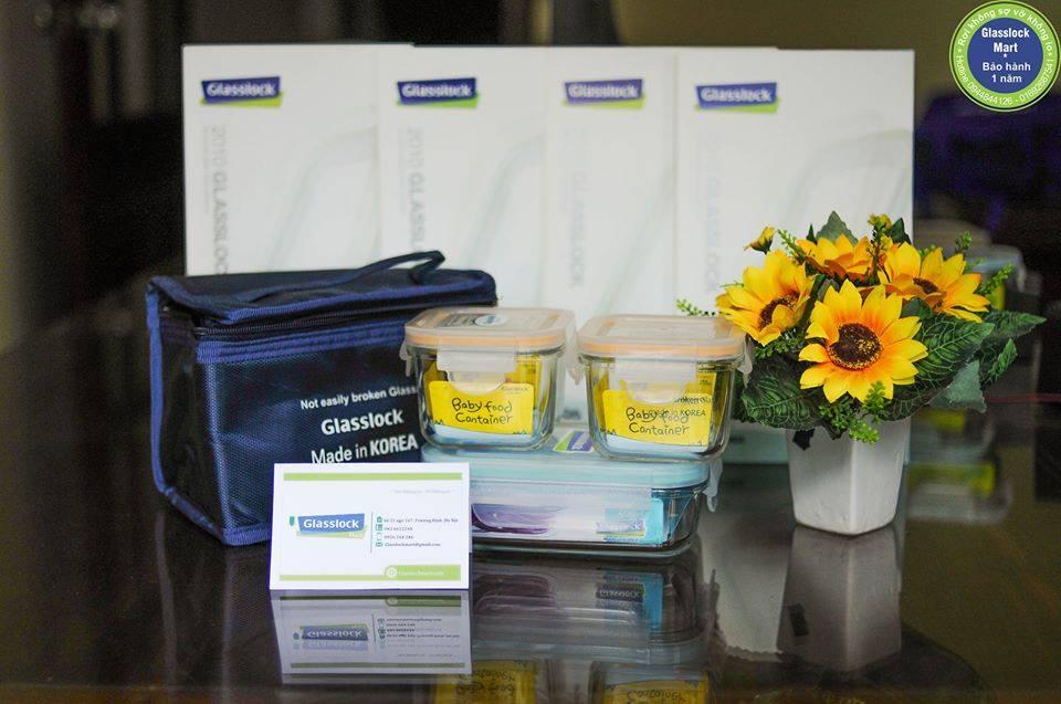 Bộ hộp cơm glasslock Lunch Set 18