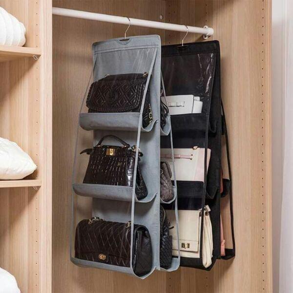 Giá treo túi xách 2 mặt vải dù