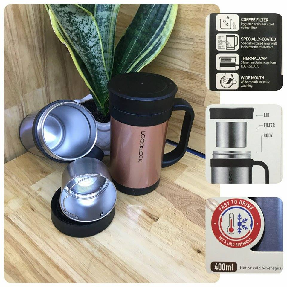 Ly giữ nhiệt Lock&Lock Filter Coffee Mug 400ml