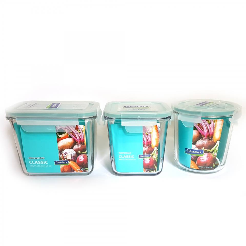 Bộ 3 hộp thuỷ tinh Glass food container