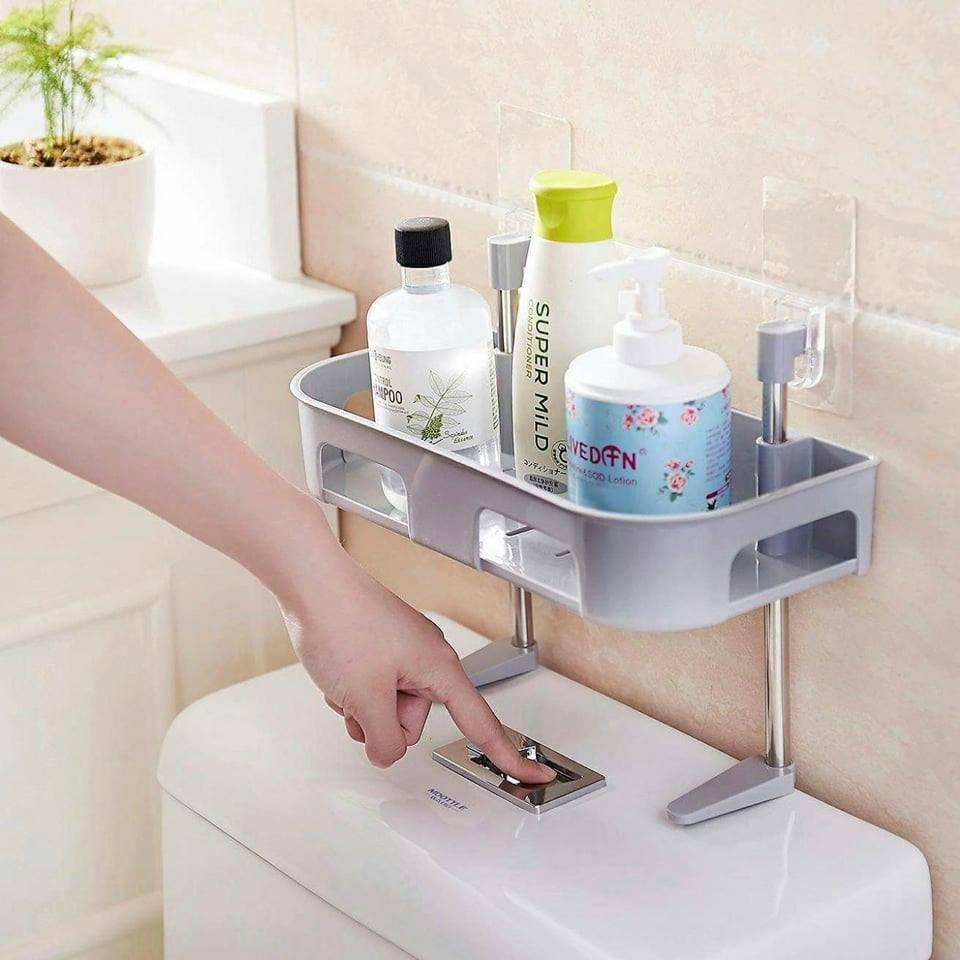 Kệ để đồ dùng nhà tắm hút chân không 1 tầng GD176