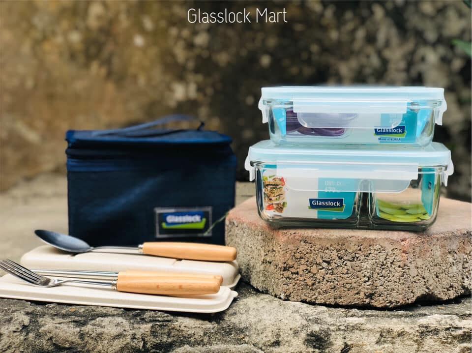 Bộ hộp cơm giữ nhiệt glasslock
