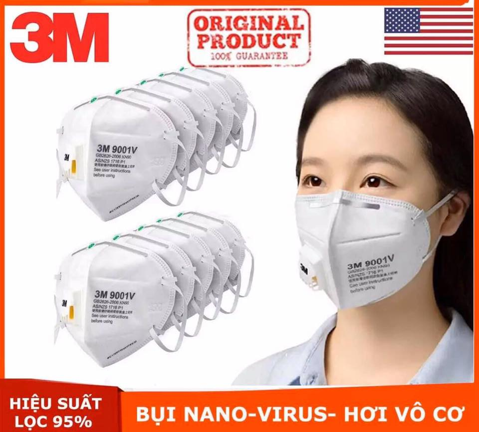 Khẩu Trang 3M 9001V set 5