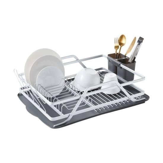 Kệ bát đĩa bằng nhôm Lock&Lock Aluminum Wave Dish Rack LDR205
