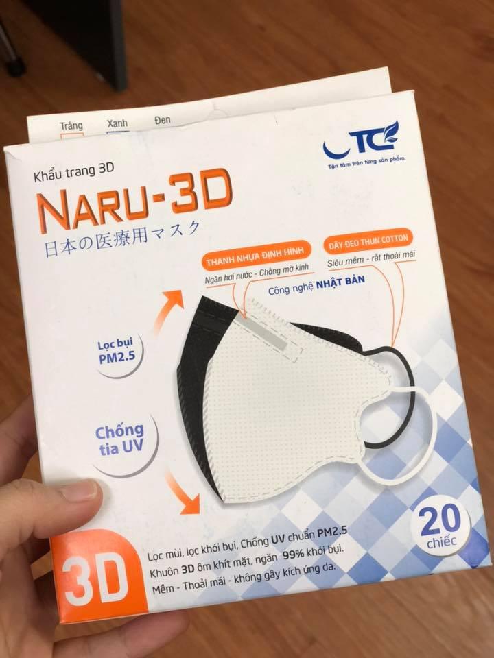 Khẩu trang y tế NARU 3D