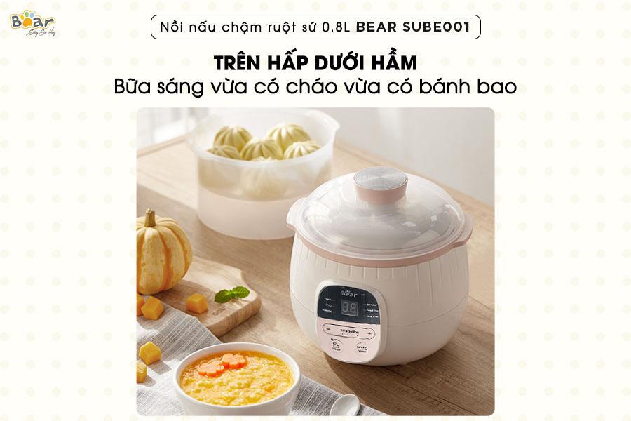 Nồi nấu chậm Bear 0.8l Bản Quốc Tế