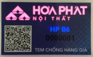 tem chống hàng giả két sắt Hòa Phát