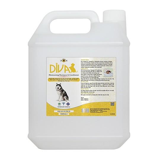 Sữa Tắm Gội & Dầu xả Hỗ Trợ Mọc Lông DIVA 2000ml