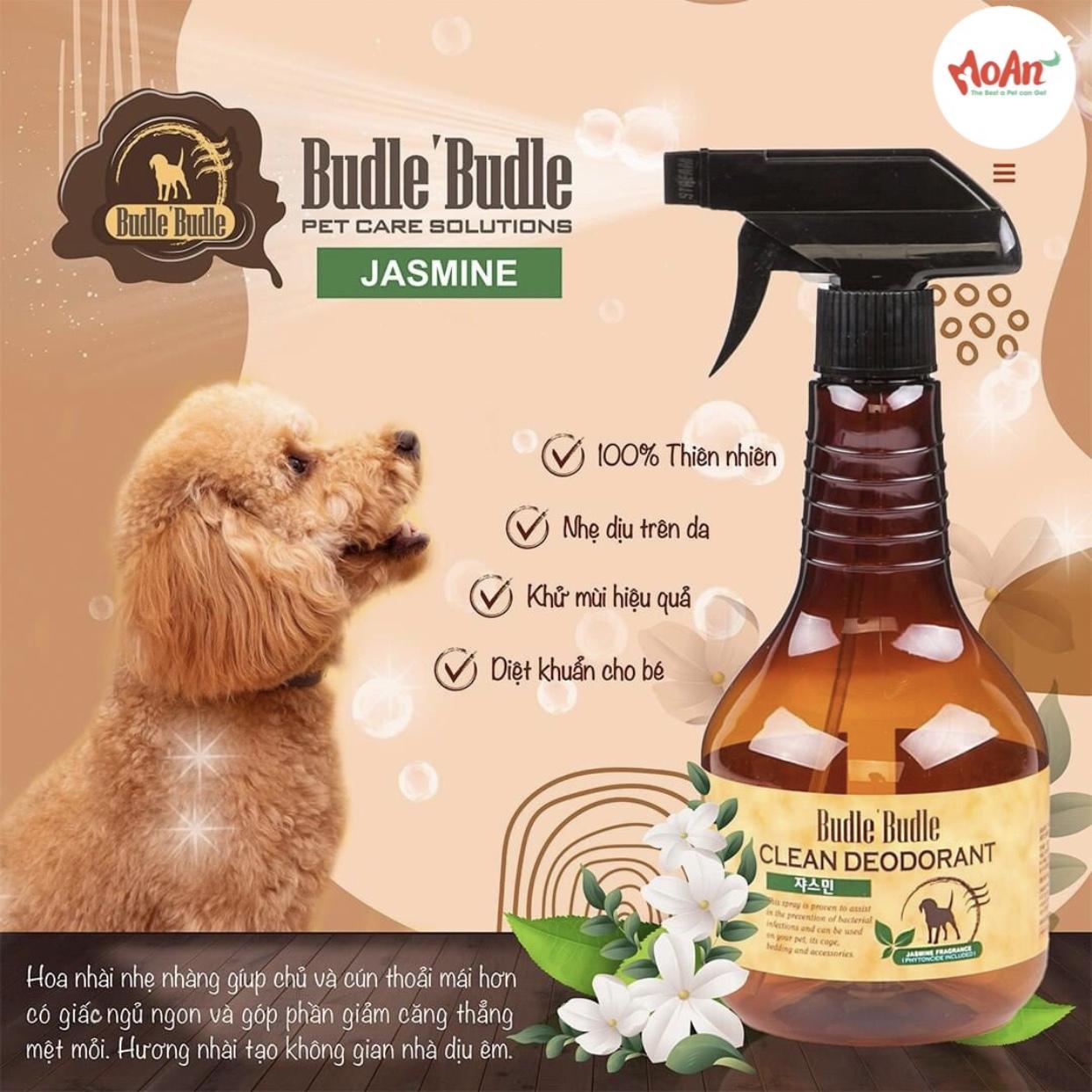 Xịt Budle'Budle Dưỡng lông [Mùi Hoa Nhài Jasmine] 530ml