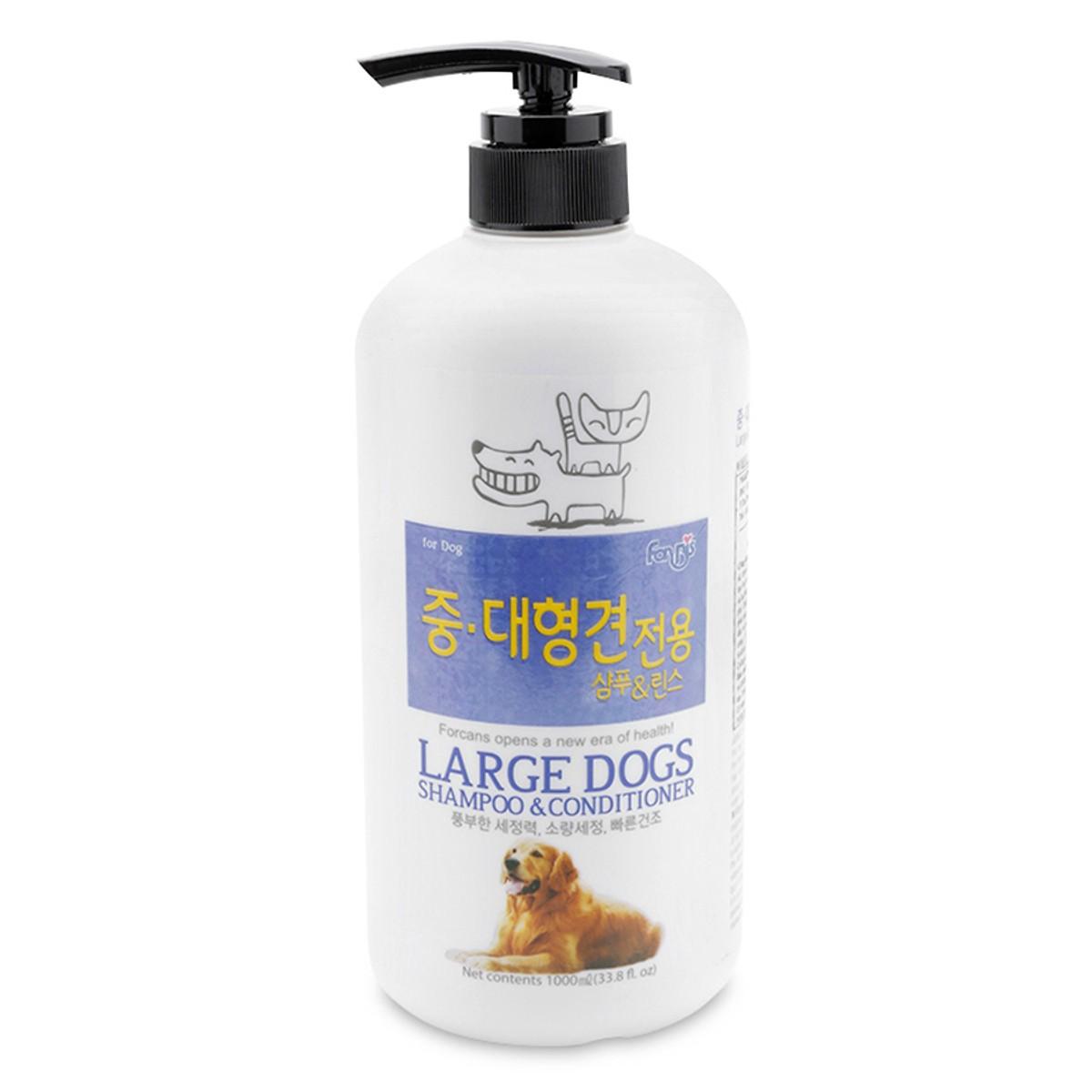 Sữa Tắm Gội & Dầu xả Forbis Large dogs [Cún lớn Khử mùi]