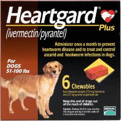 Sổ Giun Tim + Giun Đũa + Giun Móc Heartgard® Plus Mỹ (Dạng viên) 23kg-46kg