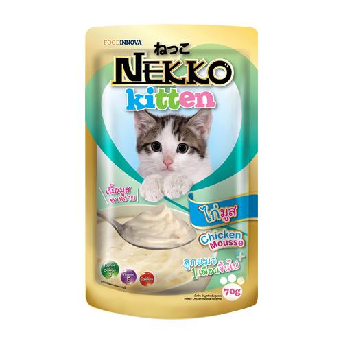 Pate Nekko Kitten Chicken Mousse 70g (12 gói)