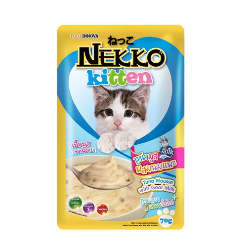 Pate Nekko Kitten Tuna Mouse with Goat Milk 70g (12 gói)