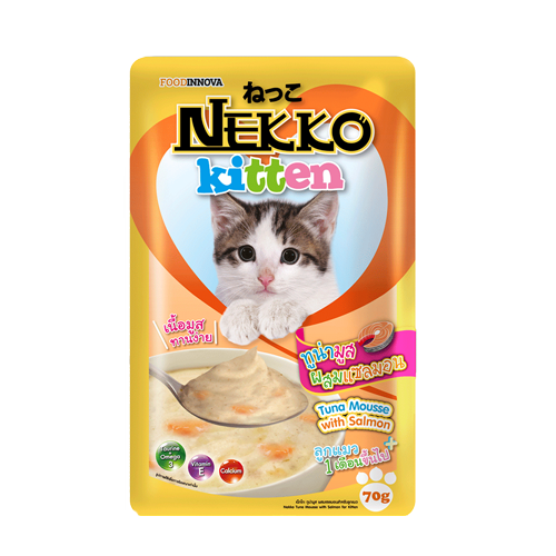 Pate Nekko Kitten Tuna Mousse with Salmon 70g