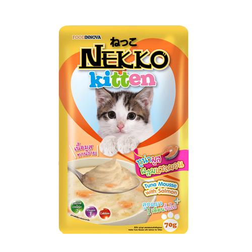 Pate Nekko Kitten Tuna Mousse with Salmon 70g (12 gói)