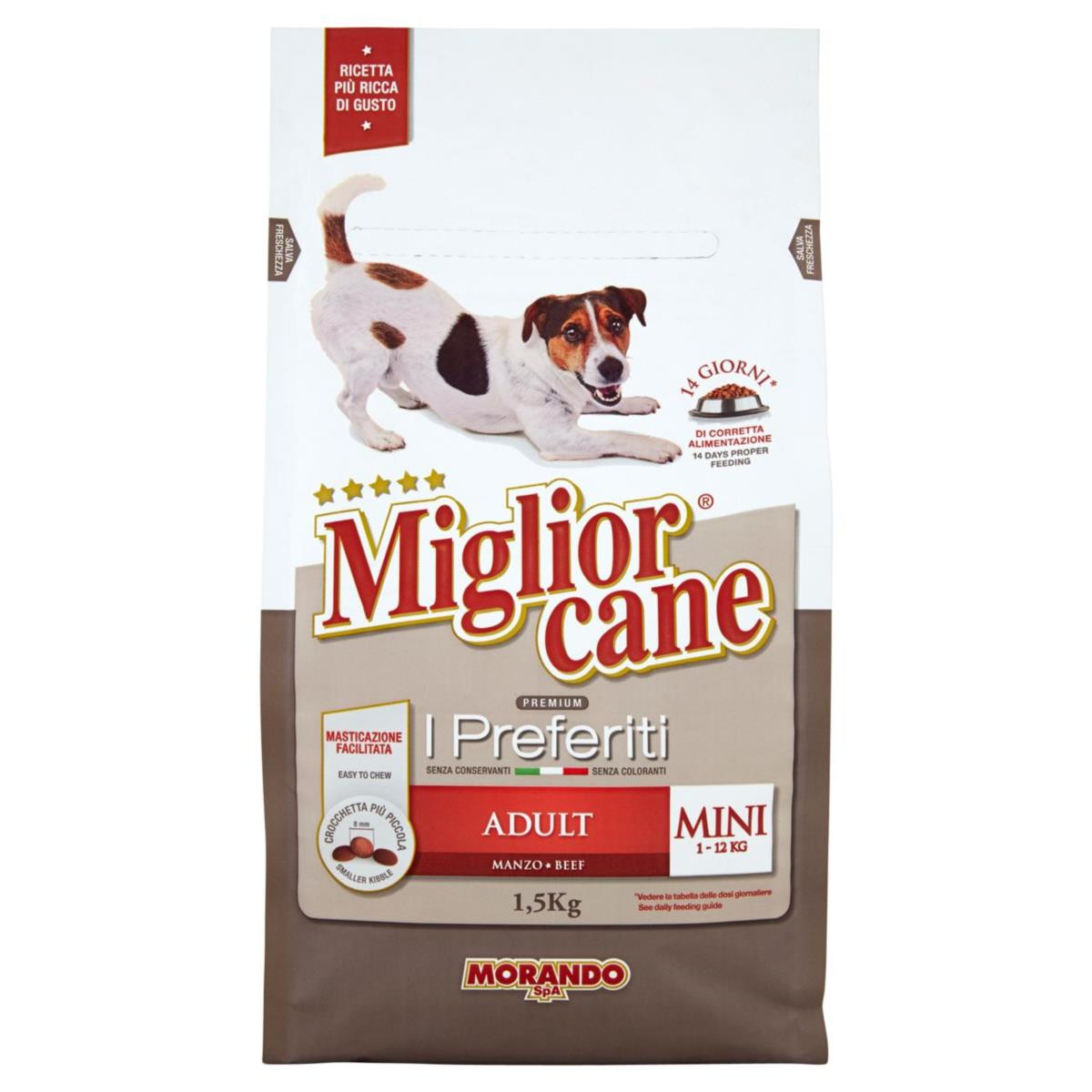Morando Miglior Cane Adult 1.5kg [Thịt Bò Cao Cấp]
