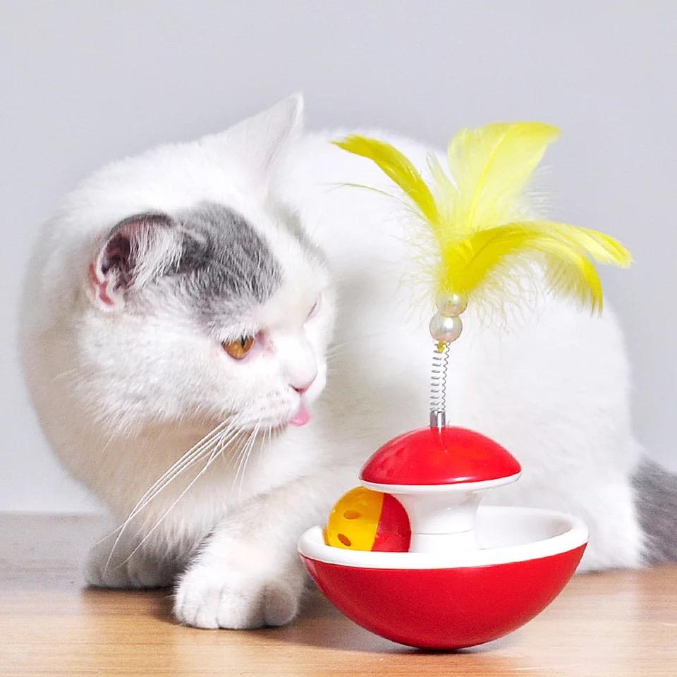 Đồ Chơi Lật Đật Lông Vũ cho Mèo
