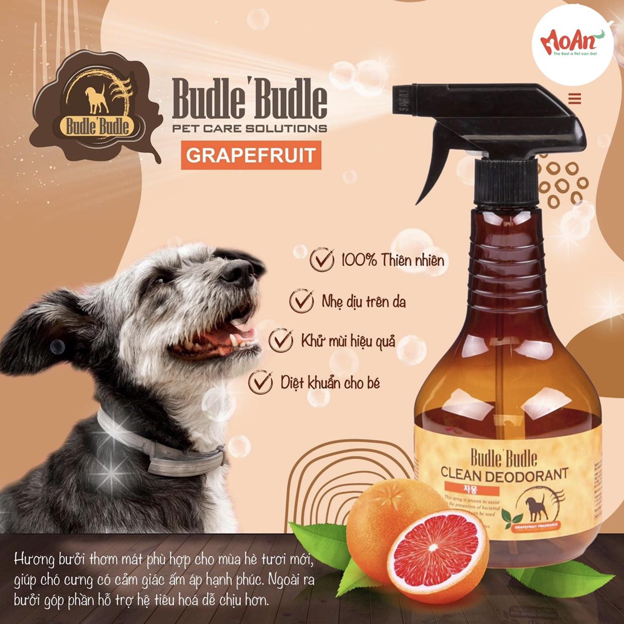 Xịt Budle'Budle Dưỡng lông [Mùi Grapefruit] 530ml