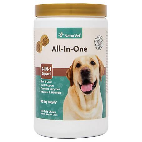 Thuốc Bổ Vitamin | Dưỡng Lông | Tiêu Hoá | Cơ Khớp NaturVet All-In-One Mỹ (Hộp 120 Viên)