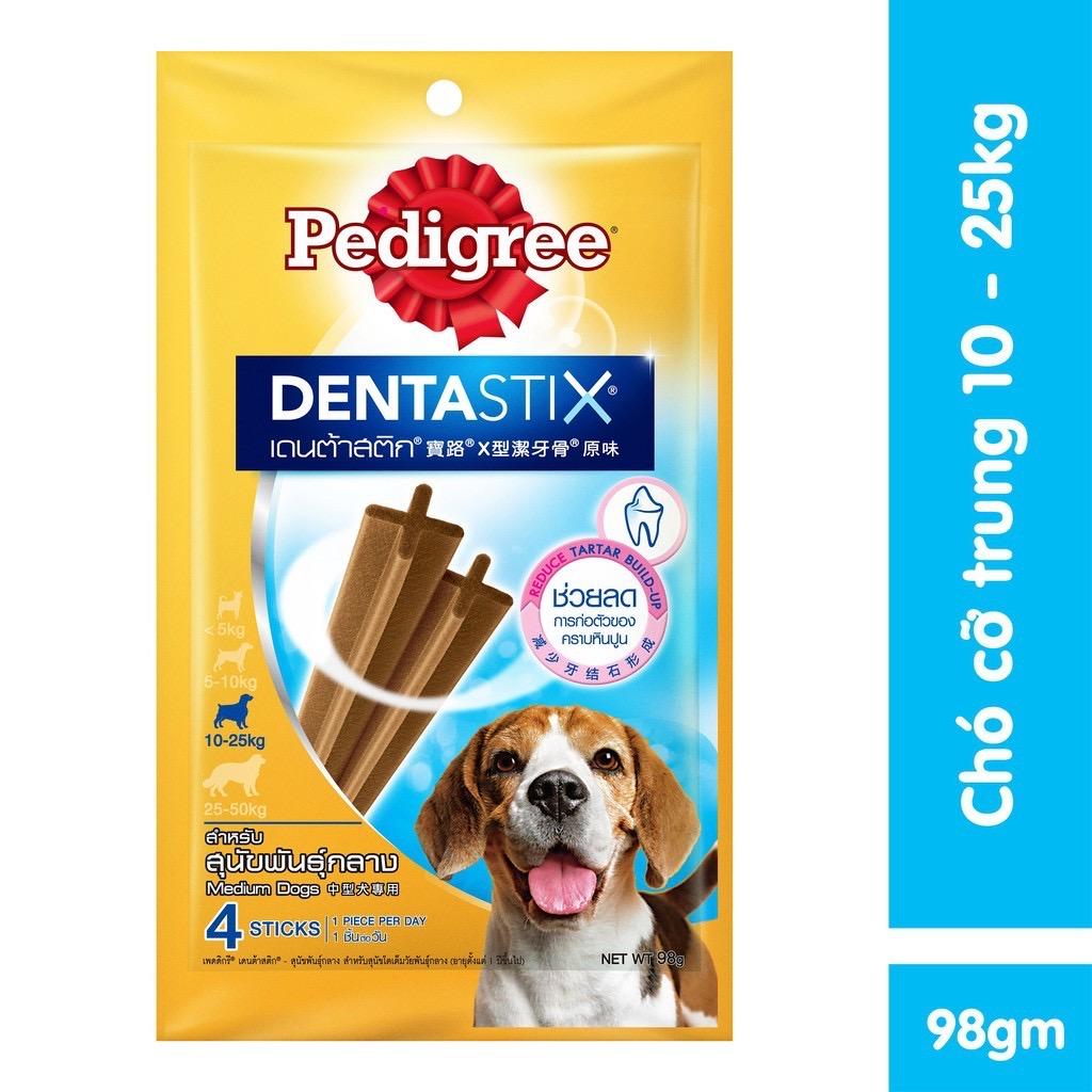 Bánh Xương Sạch Răng Pedigree Dentastix cho Cún lớn 98g (Vị Gà)