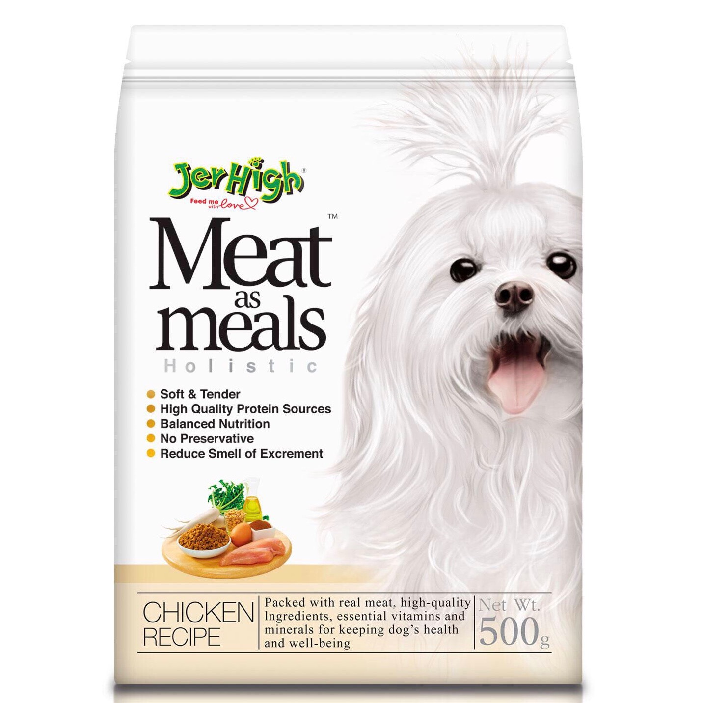 Hạt Mềm JerHigh Meat as Meals Holistic [Gà] 500g