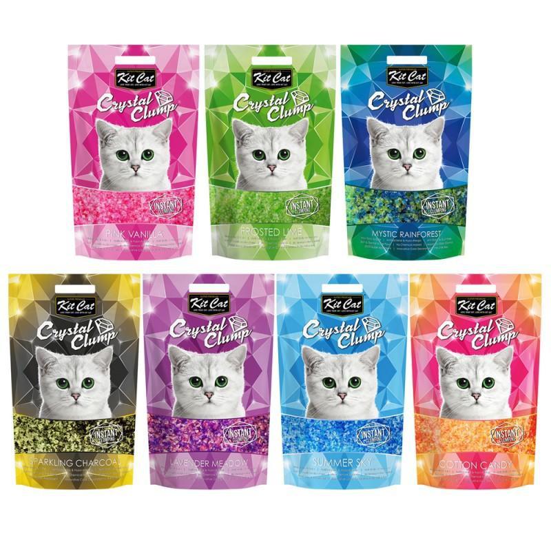 Cát Vệ Sinh cho Mèo KitCat Thuỷ Tinh CRYSTAL CLUMP LITTER 4L