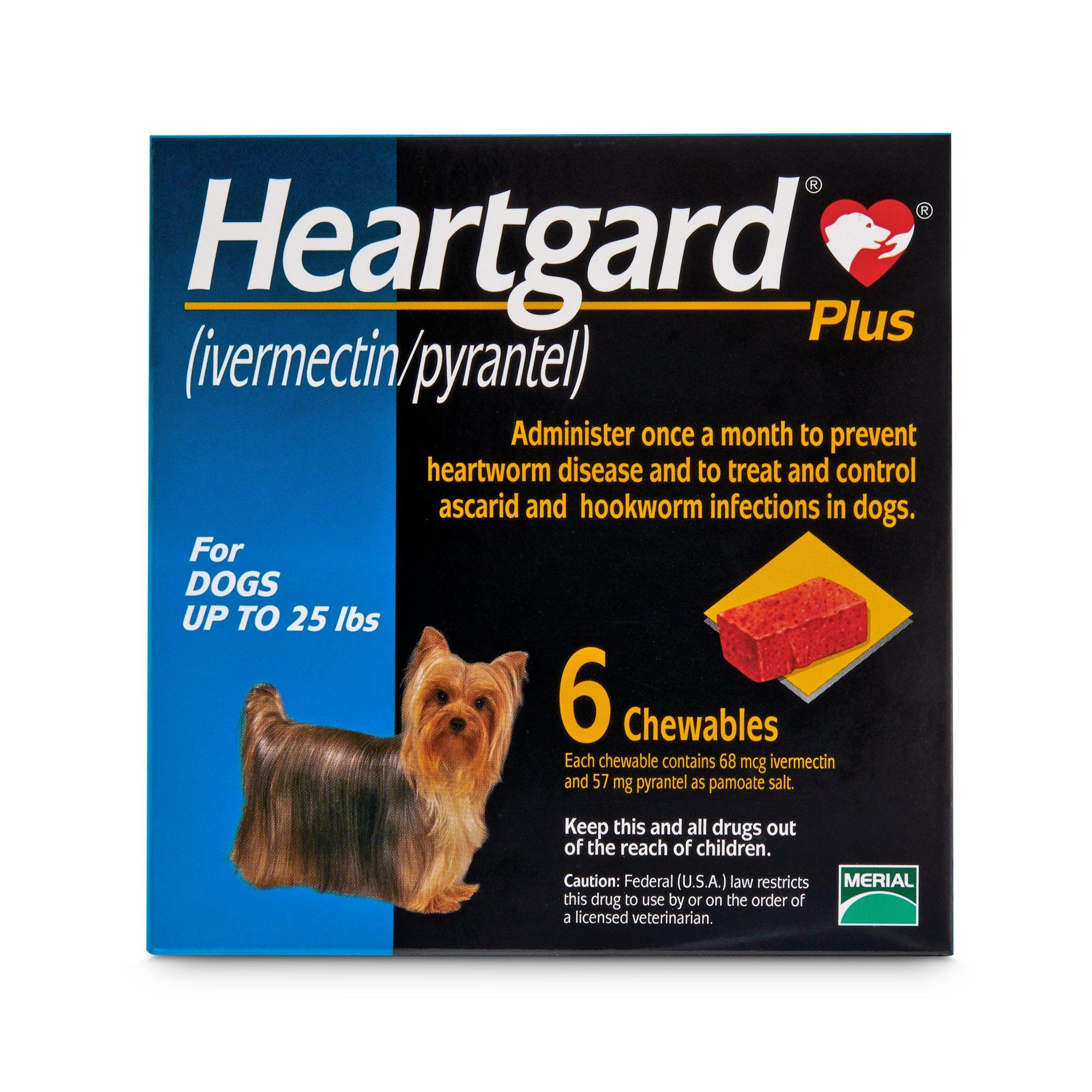 Sổ Giun Tim + Giun Đũa + Giun Móc Heartgard® Plus Mỹ (Dạng viên) Dưới 11.5kg