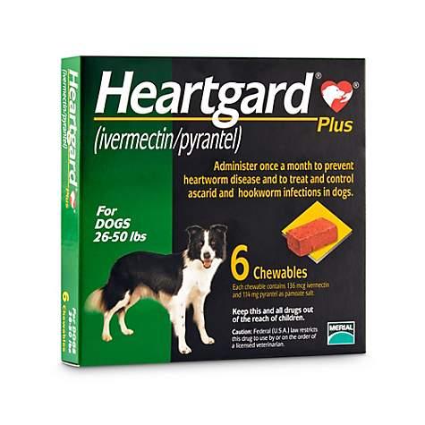Sổ Giun Tim + Giun Đũa + Giun Móc Heartgard® Plus Mỹ (Dạng viên) 11.5kg-23kg