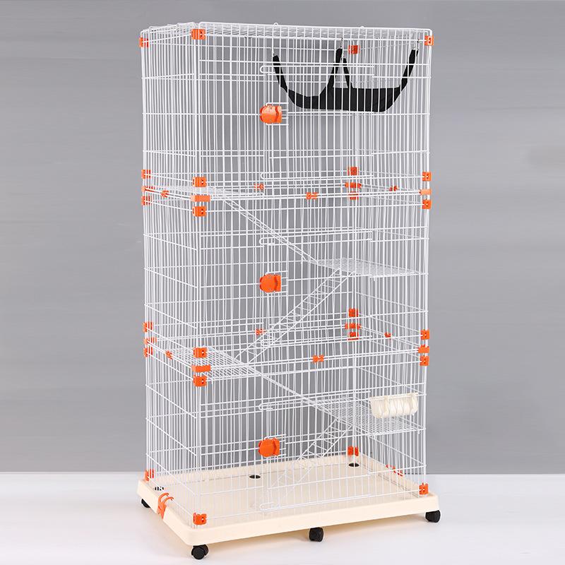 Lồng   Chuồng Mèo 3 Tầng (có bánh xe, xếp gọn được) 84x55x163cm