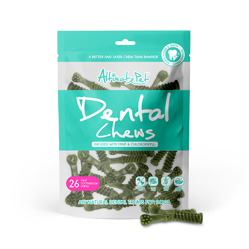 Xương Gặm Sạch Răng Altimate Pet Dental Chews Mint Bạc Hà [Hình Bàn Chải 26 Xương Mini]