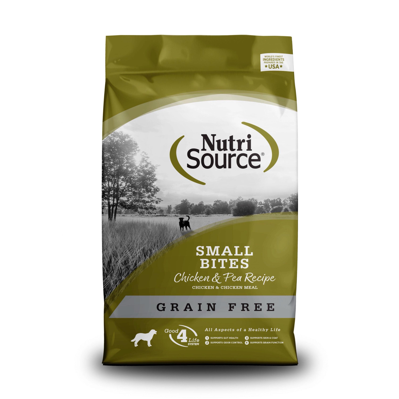 NUTRI SOURCE SMALL BREED CHICKEN & PEA FORMULA GRAIN FREE 2.3kg