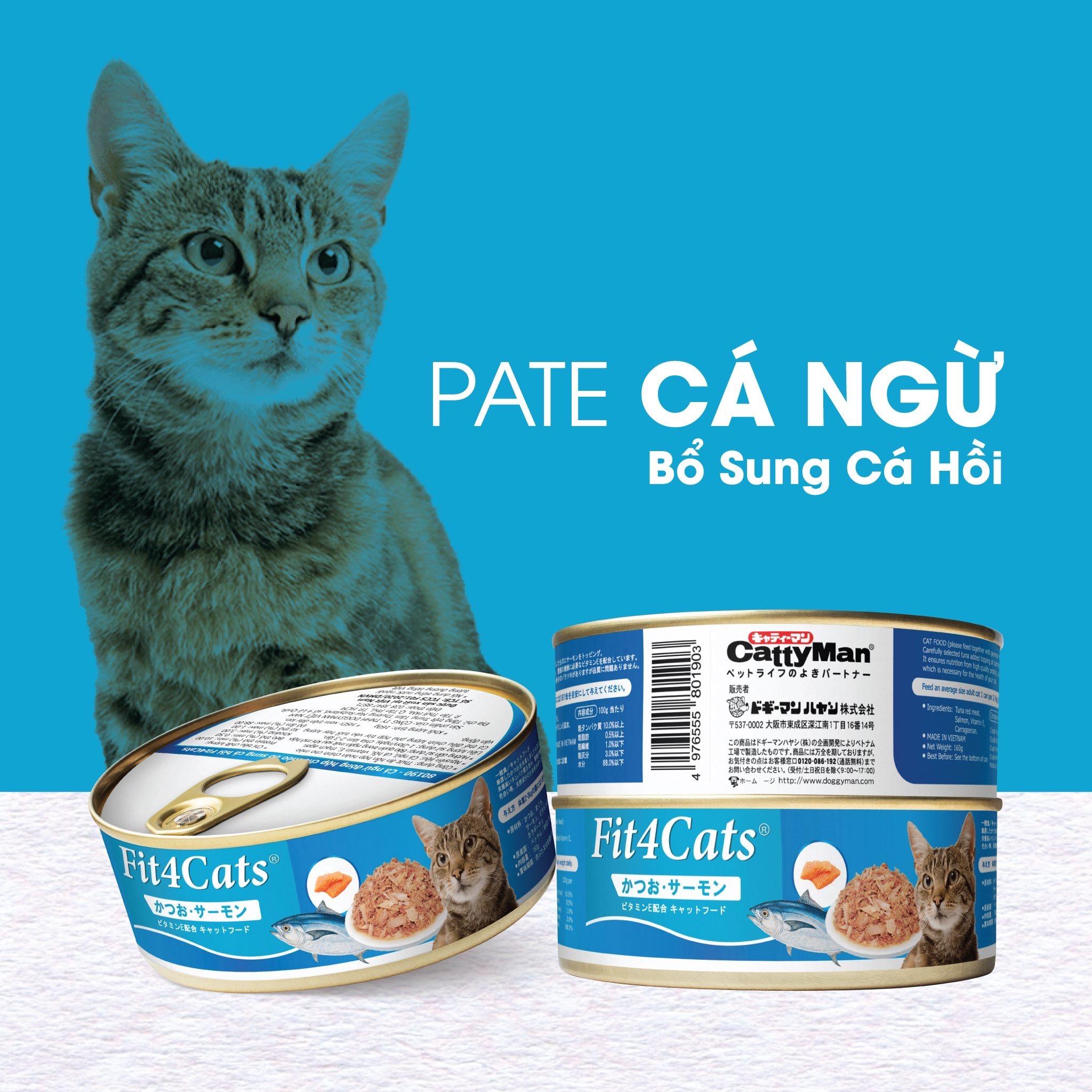 Pate Fit4Cats 210g [Cá Ngừ & Cá Hồi]