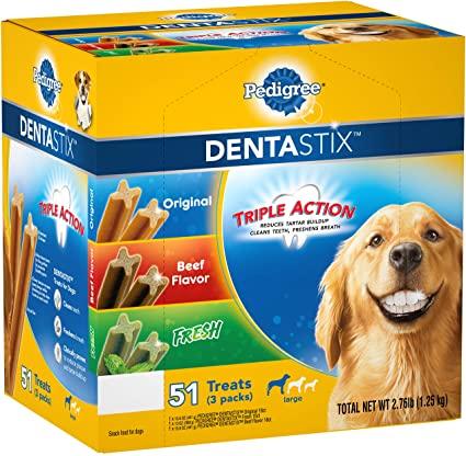 Bánh Xương Sạch Răng Pedigree Dentastix 1.25kg (51 Xương Lớn - 3 Vị)