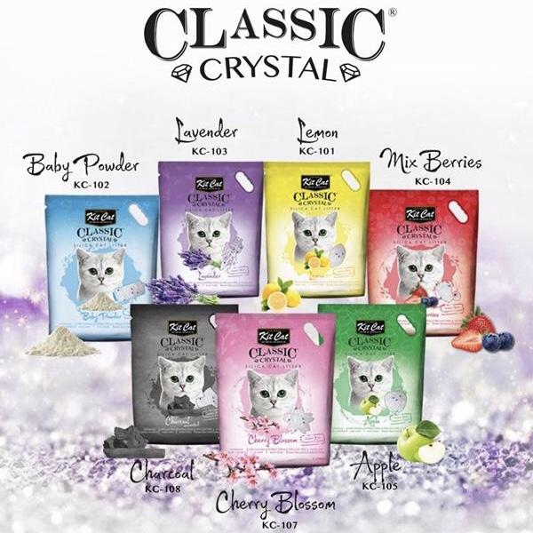 Cát Vệ Sinh cho Mèo KitCat Thuỷ Tinh CLASSIC CRYSTAL 5L