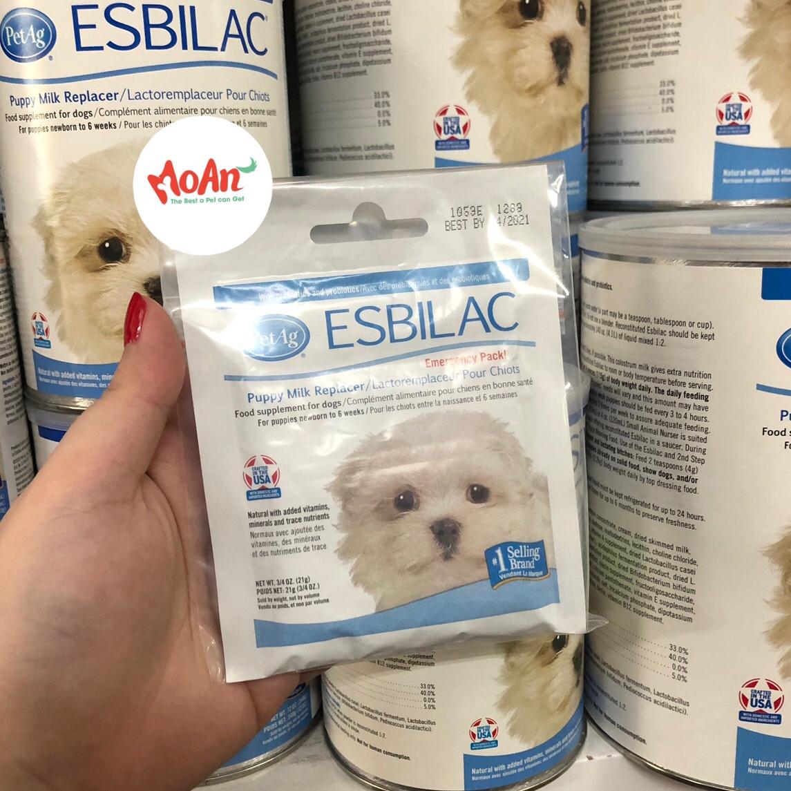 Sữa PetAg ESBILAC Mỹ dạng bột 21g