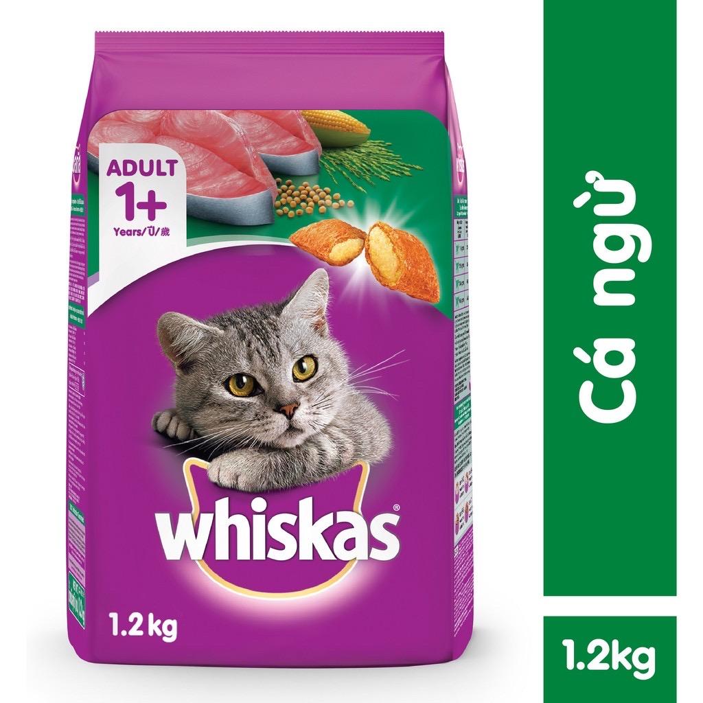 Hạt Mèo Whiskas Adult Cá Ngừ Tuna 1.2kg