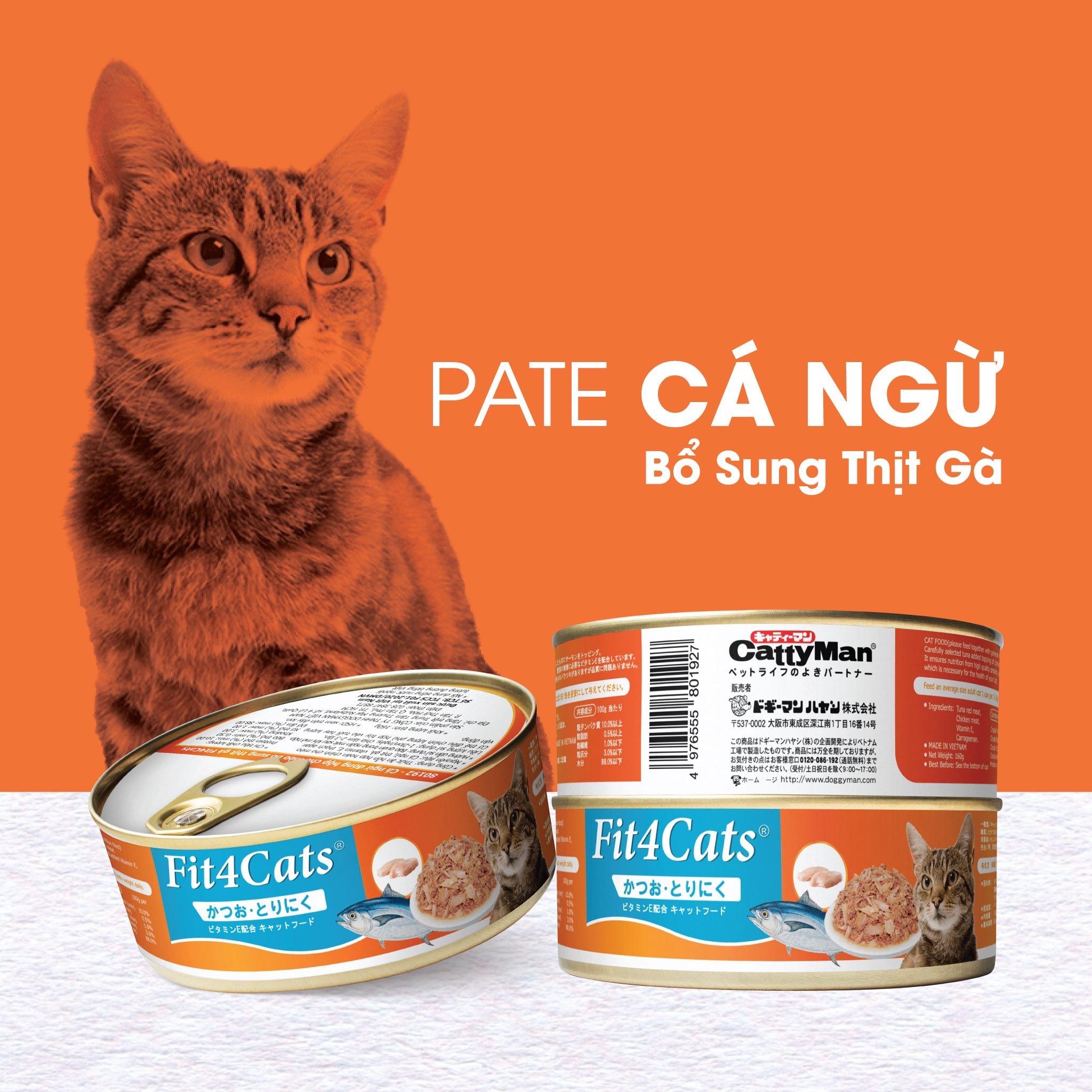 Pate Fit4Cats 210g [Cá Ngừ & Thịt Gà]